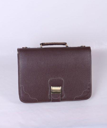 کیف اداری چرم قهوهای