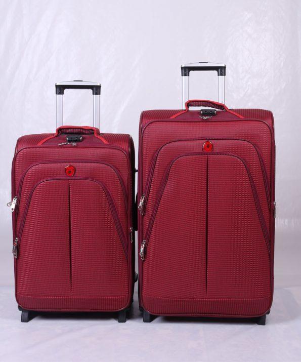 چمدان پیرگاردین دو چرخ زرشکی