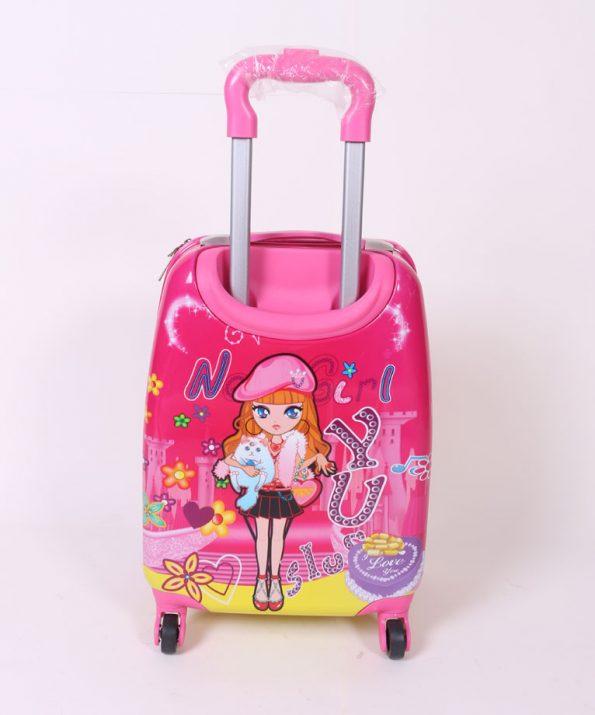 چمدان مسافرتی کودک مدل دخترانه سایز متوسط