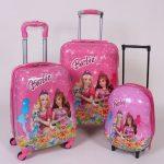 چمدان مسافرتی کودک طرح باربی سایز بزرگ