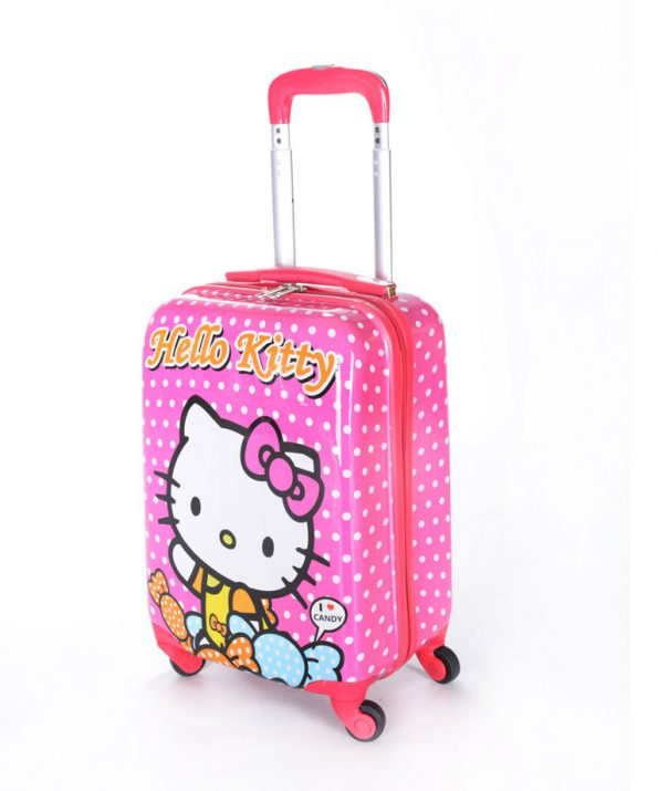 چمدان دخترانه طرح کیتی – Kitty سایز متوسط