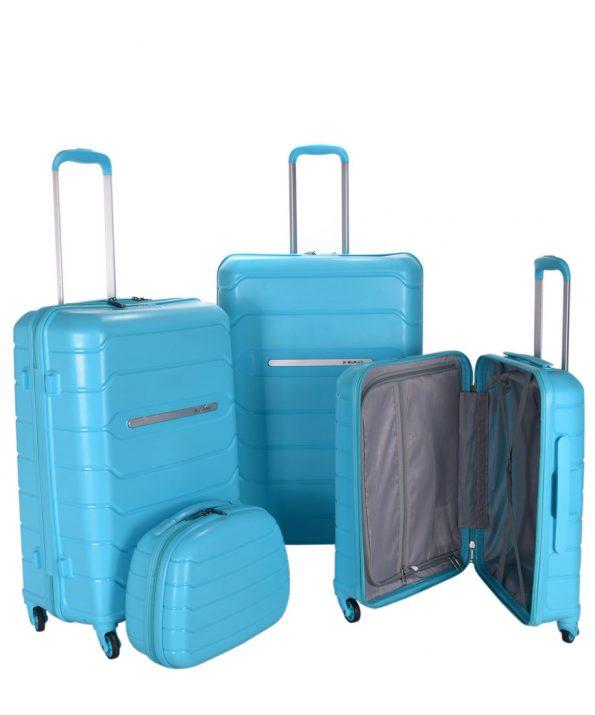 چمدان پلي كربنات چهار تیکه بوراك BURAK